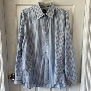 Boss Black Hugo Boss Button Up Striped Shirt Sz L